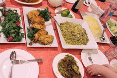 #Traditional #Nowruz #dinner #shirin #berenjor #Sweet #meat  #sabzi (#green #vegetables) #sharab (#wine)