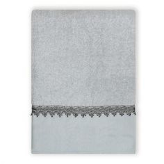 "India Ink Alexa Silver Traditional Bath Towel - Spa Blue/Silver (27""x50"")"