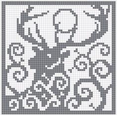 Spirit Deer Charts   Knitting stitch preview     60 x 80 stitches knitting chart    Download Knitting Chart PDF    Cross stitch preview ...