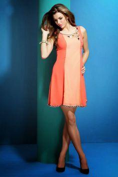 Peach casual dress