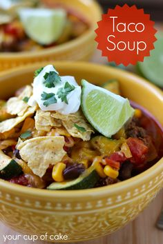 15-minute Taco Soup is my do-to dinner! (It's great with chicken or turkey too)