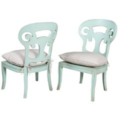 *Light Blue Curved Side Chairs (available as arm chairs; available in multiple finishes & colors) | BelleEscape.com