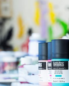 The spectrum is matte. From eye-popping fluorescents, to ultra-pure single pigment colors (for really clean mixes), Acrylic Gouache is ready for the studio acrylic, Fabric Painting, Painting On Wood, Fluorescent Colors, Pigment Coloring, Liquitex, Gouache, All The Colors, Spectrum, Modern Art
