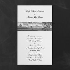 Beach Wedding Ideas - Black and White Tropical Skies - Invitation | Occasions In Print, LLC