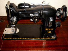 Pfaff 130 Industrial Sewing Machine in Original Sew Cabinet