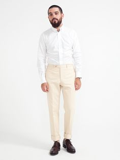 INDIVIDUALIZED SHIRTS PINPOINT OXFORD BUTTON DOWN WHITE - GENTRY NYC - 1