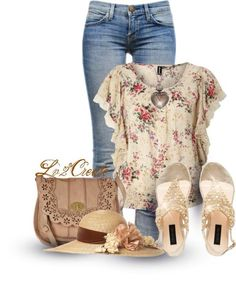 20 Floral Outfit Comboinations for Spring/ Summer - Outfit Ideas for 2017 ❤̋◡❤̋ Fashion Spring Flora Look Fashion, New Fashion, Womens Fashion, Fashion Trends, Trendy Fashion, Mode Outfits, Casual Outfits, Fashion Outfits, Floral Outfits