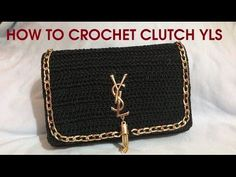 Tutorial pochette punto nocciolina uncinetto | Crochet bag || Katy Handmade - YouTube