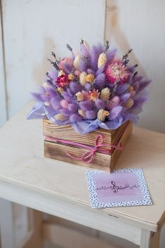 Trendy flower bouquets - trends and trends- Fashionable flower bouquets – trends and trends in floristry, the best bouquets in the photo - Dried Flower Wreaths, Dried Flower Bouquet, Dried Flowers, Flower Bouquets, Flower Box Gift, Flower Boxes, Little Flowers, Beautiful Flowers, Fake Flower Arrangements