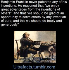 Another reason to live Ben Franklin. Wtf Fun Facts, Odd Facts, Awesome Facts, Random Facts, Random Stuff, Unusual Facts, Faith In Humanity Restored, Unbelievable Facts, Historical Quotes