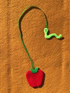 Apple and Inchworm Felt Bookmark / Handmade Felt Bookmark / Teacher Gift / Book Gift / Felt Craft Excited to share this item from my shop, perfect for a back to school gift: Apple and Inchworm Felt Bookmark / Handmade Felt Bookmark Handmade Gifts For Friends, Handmade Felt, Gifts For Boyfriend Long Distance, Felt Bookmark, Bookmark Craft, Friend Crafts, Diy Bookmarks, Sand Crafts, Felt Ornaments