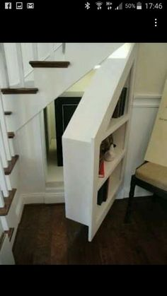 7 stunning under stairs storage ideas: home decor, shelving ideas, stairs, storage ideas, why not use your under the stair storage for storage and a hidden panic room Hidden Spaces, Small Spaces, Diy Casa, Secret Rooms, Hidden Storage, Pantry Storage, Hidden Shelf, Extra Storage, Secret Storage