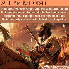 Persian King Cyrus the Great -  Faith In Royalty Restored!  ~WTF awesome & interesting fun facts