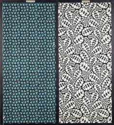 Tapetenmuster (2) auf Rahmen: Laubfrosch [Col.1] und Eisblumen [Col.1] | Häusler, Philipp