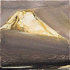 Ørnulf Opdahl: Beerenberg, 40 x 40 cm Paintings I Love, Nature Paintings, Landscape Paintings, Landscapes, Mountain Art, Mountain Landscape, Abstract Landscape, Abstract Art, Mountain Paintings