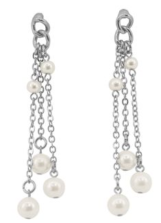 Waterfall of Chains and Waterpearls Earrings