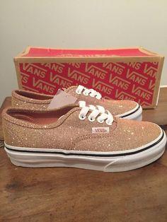 e8db6871965 Bnib Vans Kids Rose Gold Glitter Sparkle Vans Authentic Uk 2 Girls Shoes 3