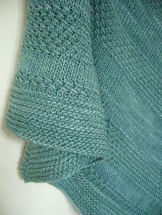 textured shawl recipe by orlane ¬ malabrigo Silky in Green Gray