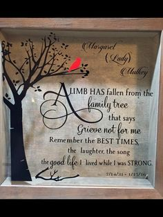 Remembrance block Sympathy Sayings, Sympathy Gifts, Vinyl Crafts, Diy Home Crafts, Christmas In Heaven, Christmas Gifts, Memorial Service Program, Cricket Crafts, Cricut Explore Projects