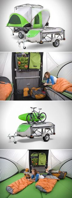 The coolest little thing ever. The Go Camper Trailer . Der Go Camper Trailer von Sylvansport: go.sylvan … The coolest little thing ever. The Go Camper Trailer from Sylvansport: go. Camping Snacks, Auto Camping, Camping Glamping, Camping Survival, Camping And Hiking, Camping Life, Family Camping, Camping Stuff, Survival Gear