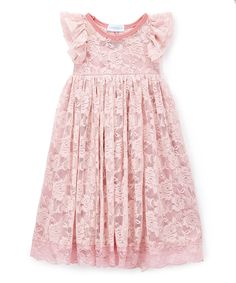 This Just Couture Rose Floral Lace Angel-Sleeve Dress - Infant, Toddler & Girls by Just Couture is perfect! #zulilyfinds