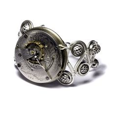 Steampunk Silver Bracelet by CatherinetteRings on DeviantArt