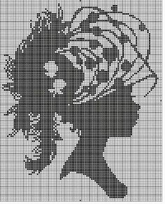 Ideas for this are endless Just Cross Stitch, Cross Stitch Charts, Cross Stitch Patterns, Crochet Cross, Filet Crochet, Cross Stitching, Cross Stitch Embroidery, Portrait Au Crayon, Cross Stitch Silhouette