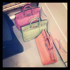 Hermes Sherbet Colored Bags