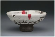 Jay Strommen clay, hagi slip, glaze pencil and decal fired multiple times 2010