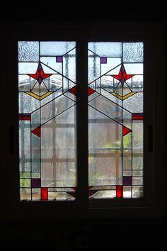 Frank Lloyd Wright stained glass www.lapolveriera.jimdo.com