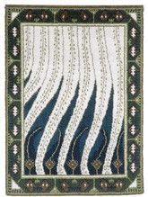 Finnish Art Nouveau rug Liekki (= flame) design by Akseli Gallen-Kallela to Paris World Fair Diy Carpet, Magic Carpet, Art Nouveau, Art Deco, Rya Rug, Flame Design, Rug Hooking, Textile Art, Fiber Art