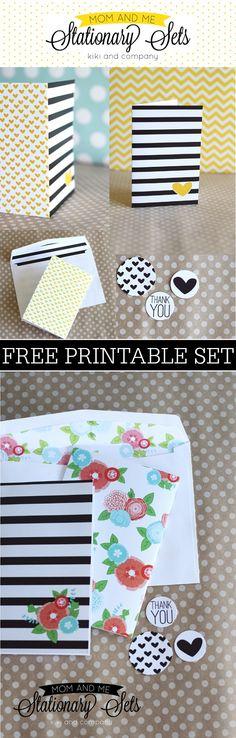 Free Printables – Stationary Sets