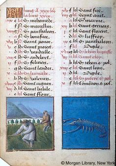 June - Book of Hours - France, Bourges, ca. 1473 - MS M.677 fol. 3v
