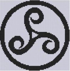 Celtic Pattern Cross Stitch Pattern