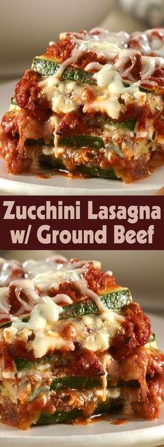 Zucchini Lasagna w/ Ground Beef
