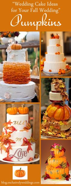 Wedding Cake Ideas for Your Fall Wedding - Pumpkins