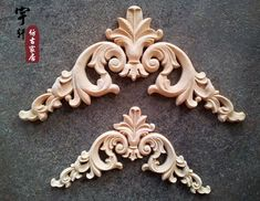 door alarms for elderly on sale at reasonable prices, buy Dongyang wood carving fashion corners wood carved motif wood shavings applique furniture door cabinet door applique 14 from mobile site on Aliexpress Now! Wood Carving Designs, Wood Carving Patterns, Diy Mirrored Furniture, Door Furniture, Wood Appliques, Diy Furniture Projects, Furniture Design, Affordable Home Decor, Arabesque