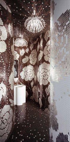 #Bisazza #Decori 2x2 cm Winter Flowers Oro Nero | #Oro su vetro | su #casaebagno.it a 6270 Euro/collo | #mosaico #bagno #cucina