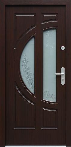 Drewniane wejściowe drzwi zewnętrzne do domu z katalogu modeli klasycznych wzór 599s2+ds5