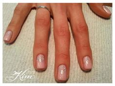 Glittered Ombre Gel Polish Manicure. Designed by Maria! colorsbykim.com