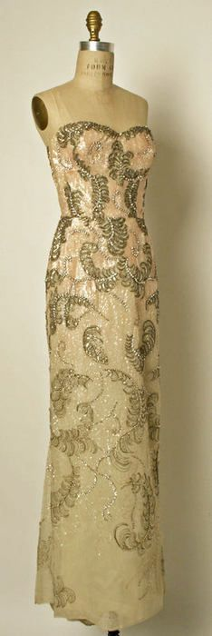 court presentation dress ca. 1953 via The Costume Institute of The Metropolitan Museum of Art