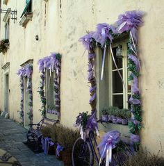 Italian wedding. Lavender Tulle & Herbs. So adorable and traditional at an Italian family residence.