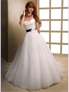 White A Line Sweetheart Organza 2013 Wedding Dresses