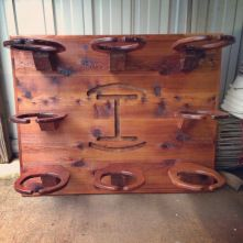 Campbell's Creations: Steven takes pride in designing and creating uqiue and affordable home decor items. Contact him today for all of your custom, western home furnishings. COWBOY HAT RACK: ENOUGH RACKS FOR THE ENTIRE FAMILY