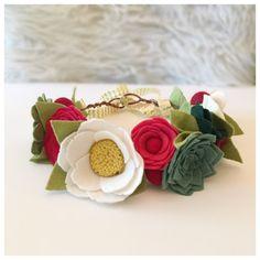 CHRISTMAS SUCCULENT CROWN // Felt Flower Crown // by HoneyCrown
