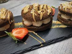 Piškótové donuty s gaštanovým krémom - recept   Varecha.sk Rum, Cheesecake, Deserts, Food, Basket, Cheesecakes, Essen, Postres, Meals