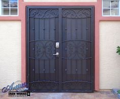 Lyon - Wrought Iron Security Screen Door - Model: FD0148