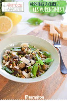 Retrouvez toutes les astuces de Marmiton pour réussir à coup sûr la cuisson de vos aubergines - vu sur TF1, dans « De l'astuce à l'assiette » #recettemarmiton #marmiton #recette #recettefacile #recetterapide #faitmaison #cuisine #ideesrecettes #inspiration #astuceassiette #astucescuisine #astuces #conseils #tf1 #aubergines Eggplant, Risotto, Yummy Food, Beef, Ethnic Recipes, 20 Minutes, Vegan, Inspiration, Cooking
