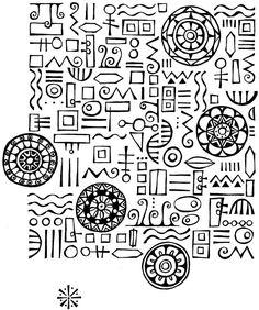 imaginary alphabet doodles