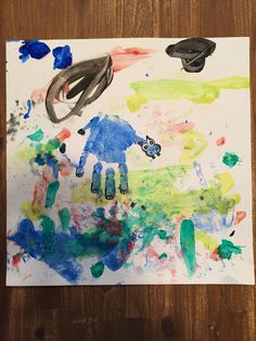 H for Hippopotamus! Hippo Hand Print!